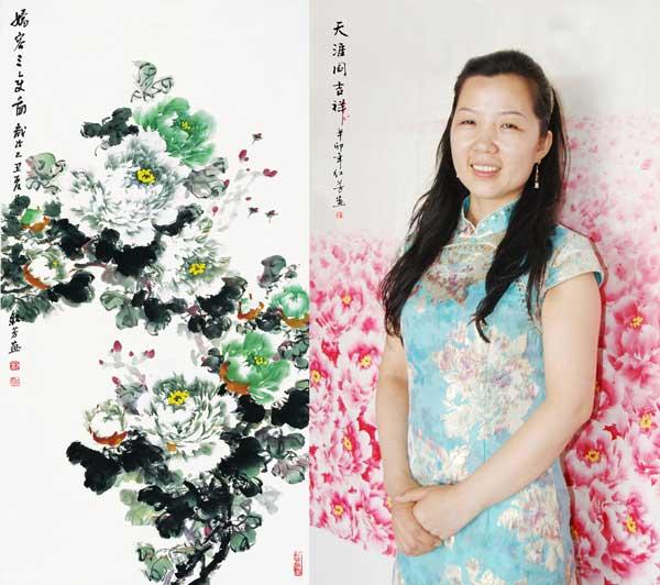 —— 著名牡丹画家刘红芳作品赏读图片
